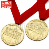 Медаль пожалования вставки пробела плакировкой дешевого уникально изготовленный на заказ Antique легирующего металла цинка латунное медное бронзовое для спорта