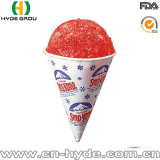 En forma de cono personalizado 4 oz de vaso de papel