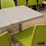 Restaurante praça moderna Superfície sólida Stone mesa de jantar Set