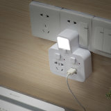 4 protector de sobretensión de corriente de carga USB con 4 Smart Power Socket CON LÁMPARA DE LED