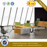 Partition en bois en verre en aluminium moderne de poste de travail/bureau de compartiment (UL-NM078)