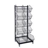 Étagère au détail de mobilier amovible de cage de fil de présentoir de supermarché