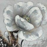 Het met de hand gemaakte Olieverfschilderij van het Canvas van BloemenOntwerp