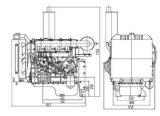 Inicio y arranque eléctrico refrigerado por agua - Motor Diesel de estilo frío de la bomba de agua establece 4105QA