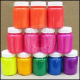 A resina de néon fluorescente colore o pó do pigmento para a arte do prego