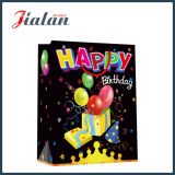 bolsa de papel impresa 4c del portador de las compras del embalaje del regalo del feliz cumpleaños