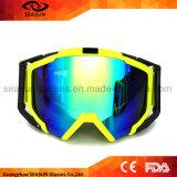 Lunettes protectrices de Snowboard de lunettes de neige de Sun de lunettes de ski de lentille d'enduit de bâti de TPU