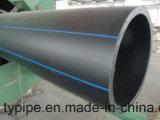 Suministro de agua de plástico de HDPE negro de tamaños de tubos