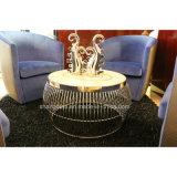ステンレス鋼(KL C05)が付いている現代大理石5のSatrのホテルのロビーの家具のコーヒーテーブル