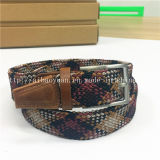 Multicoloured Double-To bush-hammer Hollow Braided Belt