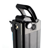 Peixe prateado de descarga de fundo Bateria 36V 48V 10AH na cor preta