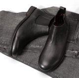 عجل جلد عامة رجال تصميم كاحل ثوب [كوبوي بووت] رجال