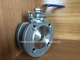 Pn16 1PC Flange Wafer a válvula de esfera com a norma ISO5211 Coxim de montagem
