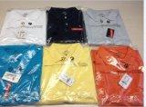 2017 T-shirts solides de polo de coton de chemises de polo de piste de teinture de filé de gosses de femmes d'hommes