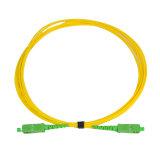 Cordon de connexion recto unitaire de fibre optique du mode G652D du cordon de connexion de qualité Sc/APC-Sc/APC