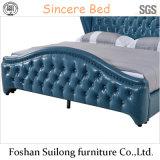 현대 작풍 실제적인 가죽 침대