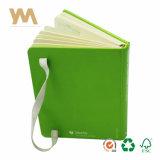 Повестка дня дневник A5 фиолетового цвета кожи ноутбук с эластичной ленты