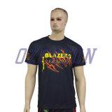 T-shirt fait sur commande de sublimation en bloc en gros directe de polyester d'usine (T016)