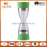 Amoladora dual manual de la sal y de pimienta de la venta de la dimensión de una variable caliente del reloj de arena