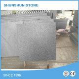 Flameado paso natural de granito negro para pisos de piedra