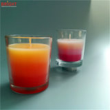 Drei gefärbt duftende Glasglas-Kerze der Schicht-3% mit MSDS