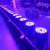 Luz UV do estágio da PARIDADE do diodo emissor de luz de DMX 512 18PCS*15W RGBWA
