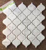 Italia en mármol blanco de Carrara Arabesque/Linterna azulejos de mosaico