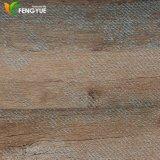 Plancher d'intérieur commercial de vinyle des graines de cliquetis en bois jaune de PVC
