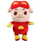 Cerdo rojo de la historieta caliente china de los cabritos para el juguete creativo de la felpa del regalo