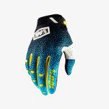 L'attrezzo protettivo di motocross del guanto di verde 100% MTB mette in mostra i guanti