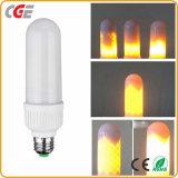 Alta qualidade simulada luz do preço de fábrica da alta qualidade da lâmpada do diodo emissor de luz da flama da decoração dos bulbos E26 E27 do milho do incêndio da natureza do efeito da flama do diodo emissor de luz do presente