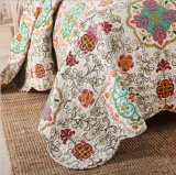 Cama confortável durável Prewashed personalizados Quilted 1 Peças Colcha Coverlet definida para 37