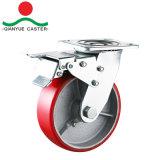 Seitliche Bremse Hochleistungs-PU auf Eisen-Fußrolle