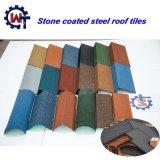 Material para telhados metal revestido a pedra telha romana