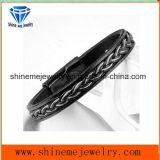 Armband van het Leer van de Mensen van de Juwelen van het lichaam de Europese en Amerikaanse (BL2871)