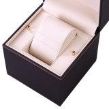 Luxux-PU-lederner Uhr-Kasten, Schmucksache-Kasten, Kunststoffgehäuse-Uhr-Kasten