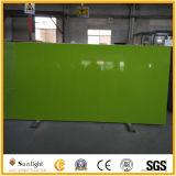 Quartzo artificial verde branco/preto para bancadas e Worktops