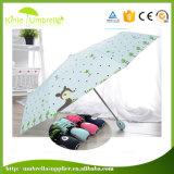 Подгонянный польностью Silk зонтик 21inch печати 3 складывая для девушки