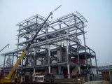 Estructura de acero de los talleres de acero y de los paneles de acero estructurales y acanalados de la red del material para techos