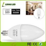 blanco blanco de la bombilla de la vela de 3W 4.5W 6W 8W E12 LED/natural caliente para la iluminación casera