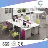 برتقاليّة مزدوجة حاجز مكتب طاولة خشبيّة حاسوب مكتب