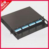 fibra MTP ottico delle porte 1U 48 al quadro d'interconnessione montato cremagliera monomodale di LC