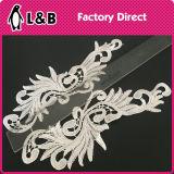 Cucire sul merletto del collare di Applique del fiore 3D