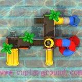 Nuevo diseño barato pequeño parque acuático parque de agua de la diapositiva (WPE-cus001)