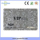 Oro di rivestimento di RFID Matt o scheda di insieme dei membri astuta senza contatto d'argento di affari della scheda di VIP