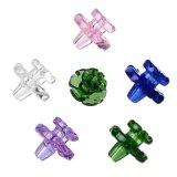 Accesorios fumadores las tapas de Carb Multi-Color Glassbong Pipa de vidrio