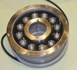 Luz em mudança da fonte da cor do diodo emissor de luz do aço inoxidável da fonte do assoalho de Fenlin