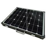 Cadre noir portable avec le contrôleur de module solaire de pliage