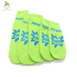 Color azul de algodón tejido antideslizante calcetines Yoga Pilates personalizado