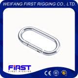 Le mousqueton droites en acier inoxydable AISI 304-316